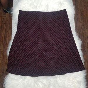 Contemporaine   A-Line Stretch Knit Skirt Black XL